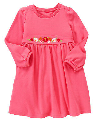 NWT Gymboree Butterfly Girl Flower Embroidered Knit Dress 5 Girls