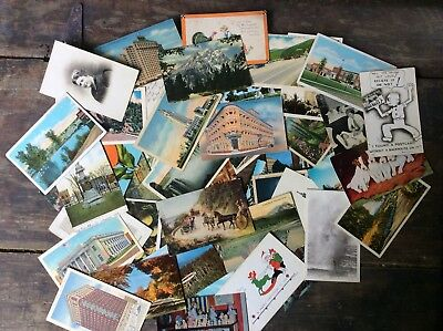 50 Vintage Postcards From Around U.S.