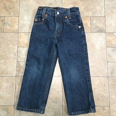 Vtg Childs Toddler Levis Blue Denim Jeans Size 3 Slim Kids Made In USA 18x14