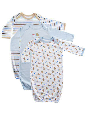 """Luvable Friends Baby Boys' """"Woof"""" 3-Pack Gowns"""