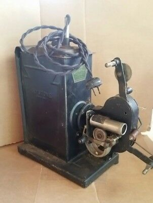 Antique Keystone Kinescope 16MM E 35 Reel to Reel Movie Projector Hand Crank JS