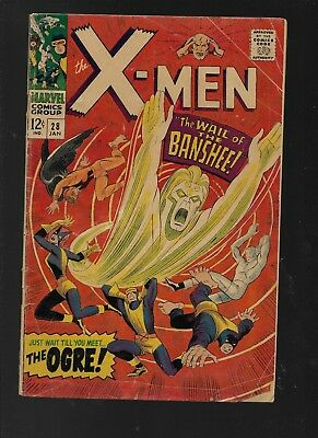 The X-Men #28 (Jan 1967, Marvel) First Banshee
