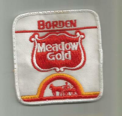1980's BORDEN MEADOW GOLD MILK AND ICE CREAM PATCH DELIVERY DRIVER EMPLOYEE