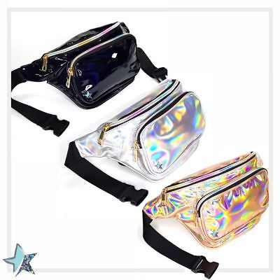 Clear Fanny Pack for Women Holographic Fanny Pack Waist Bag Black Fanny Pack