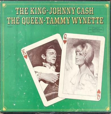 Johnny Cash The King-Tammy Wynette The Queen Signed By Tammy-4 Lp's