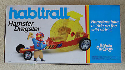 Rare Habitrail Hamster Dragster Wheel Car ( cage )