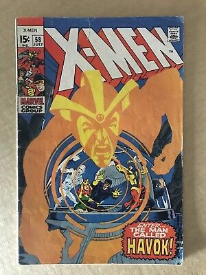 X-Men #58 HIGHER GRADE 5.0/FN 1st App Havok GIFTED, Neal Adams
