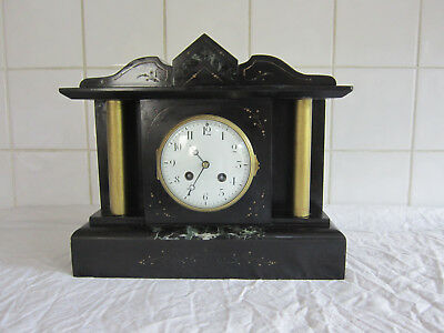 Lovely Slate and Marble Chiming Temple Clock - Circa 1890 -Marti