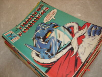 VINTAGE 1980s MARVEL TRANSFORMERS COMICS EARLY ISSUES X 50 JOB LOT ! ! !