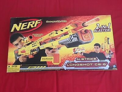 NERF N-Strike Elite Longshot CS-6 + Ammo (Unopened)
