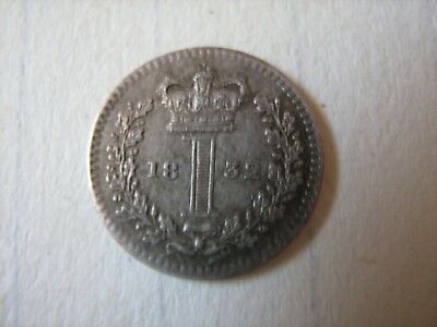 1832 William IV 4th Maundy One Penny - Condition As Photographed