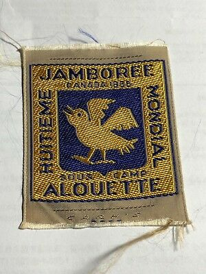1955 Canadian Jamboree Mondial Woven!!  Mint and Rare!!!