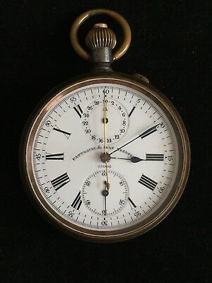 Fattorini & Sons chronograph pocket watch  military grade HEUER / montre gousset