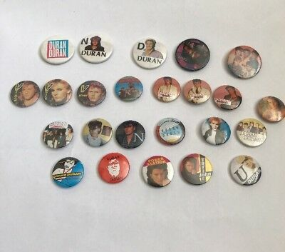 DURAN DURAN BUTTON BADGES X 24 Vintage Pin Badges Memorabilia Retro