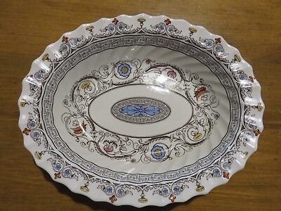 Pretty Vintage Copeland Spode England Florence Oval Bowl Scalloped Scrolls