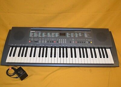"Vintage 35"" Yamaha Psr-200 Electronic 60 Key Keyboard Synth Awm Made In Japan"
