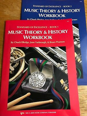 Music book lot standard of excellence for band teacher set 41 kjos standard of excellence music theory history workbook books 1 2 set fandeluxe Choice Image