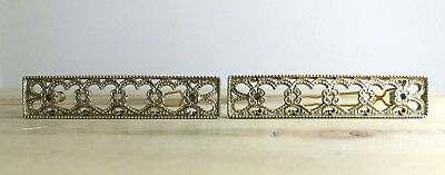 Vintage Hair Grip Retro Gold Filigree Metal Heart Design Hair Comb Accessory