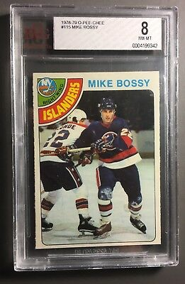 1978 OPC #115 Mike Bossy Rookie Card BVG 8 NM-MT