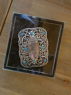 New Wrangler Lillian Cowgirl  bling Buckle in Gift Box Turquoise