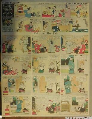 Polly and Her Pals Sunday by Cliff Sterrett from 8/25/1928 Full Page Size !