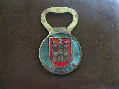 Vintage HAMBURG GERMANY SOUVENIR BOTTLE OPENER