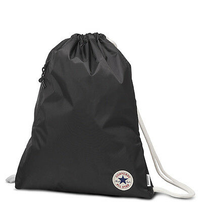 CONVERSE DRAWSTRING BAG Black Sports Bag Gym Swimming PE Back Pack ... 387a9e1e5ed2d