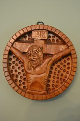 Beautiful Hand Carved Wood Stations of the Cross #12 JESUS DIES