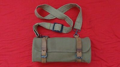 Original Japanese T-11 LMG canvas ammo pouch and shoulder strap.