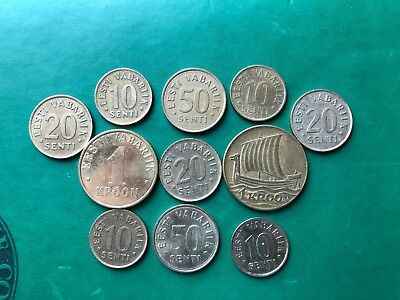 1 Kroon 1934 and  other  coins  from Estonia !