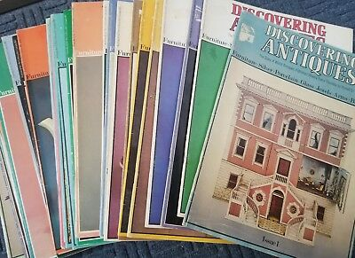 33 Issues of DISCOVERING ANTIQUES Magazine - 1971 and 1972 inc. Issue #1 - RARE