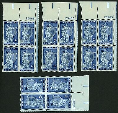 1956 3c US Postage Stamps Scott 1082 Labor Day Lot of 16