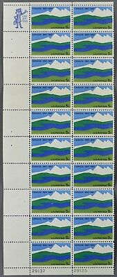 Block 20 1967 US Postal Service Canada Centenary Stamps Scott 1324