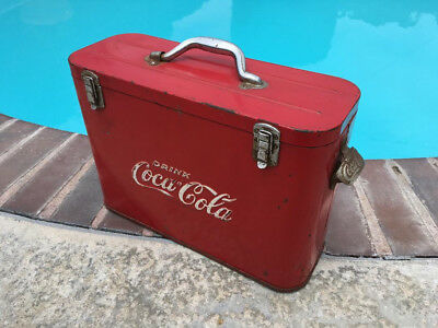 Vintage 1940s - 50s Coke Airline Cooler w/Stainless Liners FREE SHIPPING