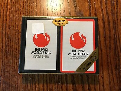 Vintage Unopened 1982 collectible playing cards from the 1982 World's Fair