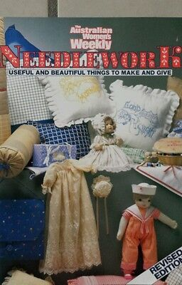 The Australian Women's Weekly Needlework Paperback 1990, 129pgs excel condition