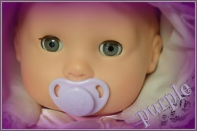 Honeybug MICRO preemie Magnetic Pacifier reborn doll Bitty Baby ag Lilly PURPLE