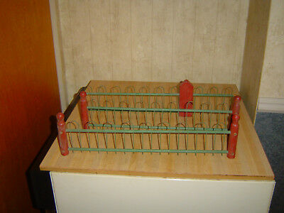 Vintage 3 sections   wood and metal Christmas Tree Fence