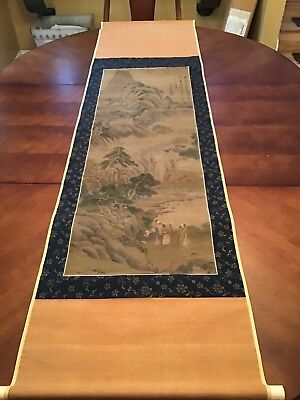 """Chinese Hanging Scroll: Qui Ying """"Sansui Landscape"""""""