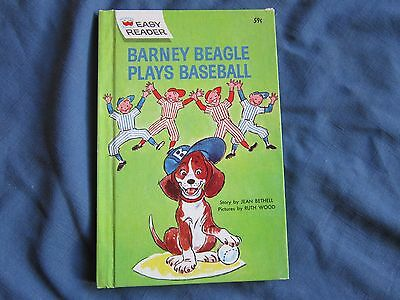 BARNEY BEAGLE PLAYS BASEBALL Jean Bethell Ruth Wood Easy Reader Wonder Books