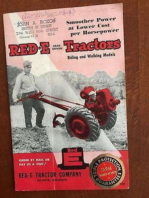 1951 RED-E Garden Tractor Catalog Brochure Richfield Wisconsin Vintage Original