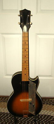 1962 Kay Value Leader  Short Scale Bass Guitar Headstock Logo Missing. PROJECT