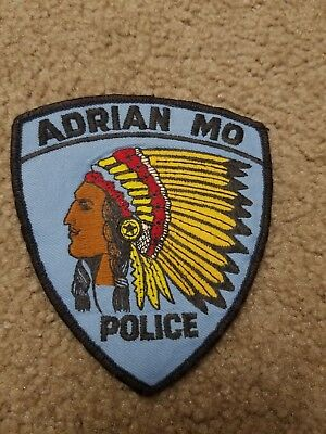 Adrian Mo Missouri Police Patch Indian