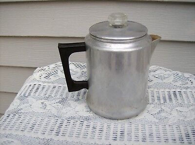 Vintage Comet Aluminum Stovetop Coffee Pot 7 Cup Percolator Coffee Maker