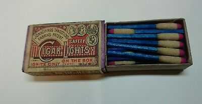 Antique Cigar Safety Lights Matches Made By Jonkopings Tandsticks Sweden