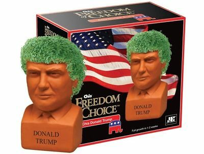 Chia Pet Donald Trump Freedom of Choice Pottery Planter Republican President NEW