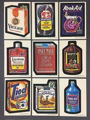 1973 Topps Wacky Packages 1st Series Near Complete Set WB (27/30)