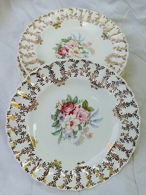 ANTIQUE 1930S Limoges Arcadia China - 10 Bread and Butter Plates