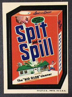 1973 Wacky Packages 3rd Series WHITE BACK Spit and Spill, Spic and Span