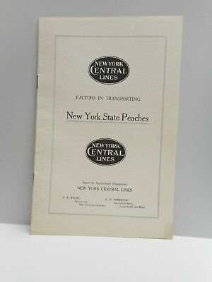 Vintage - NEW YORK CENTRAL LINES - FACTORS IN TRANSPORTING N. Y. Peaches - 1916